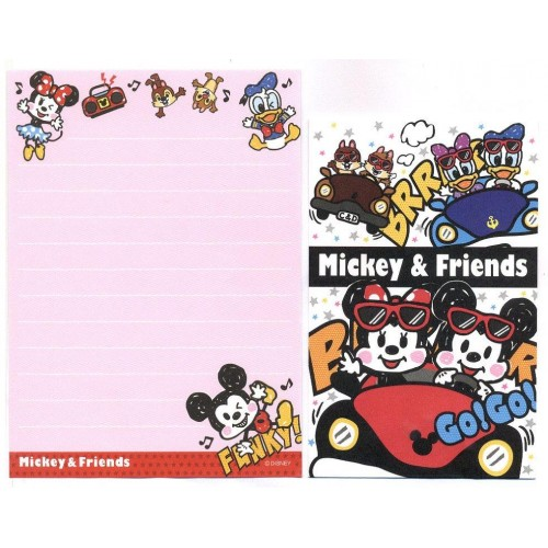Kit 2 Conjuntos de Mini-Papel de Carta Mickey & Minnie N2 Disney