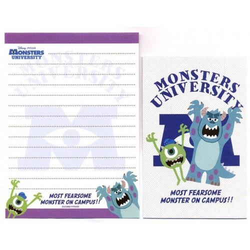 Kit 2 Conjuntos de Mini-Papel de Carta Monsters University Campus Pixar Disney
