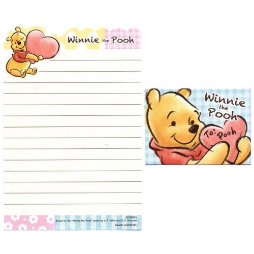 Kit 2 Conjuntos de Mini- Papel de Carta Disney Winnie the Pooh