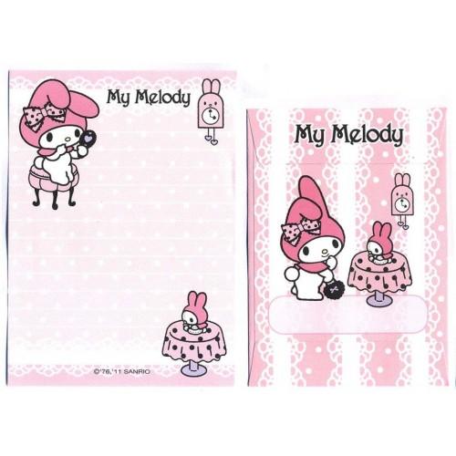 Ano 2011. Conjunto de Mini-Papel de Carta My Melody Tea2 - Sanrio