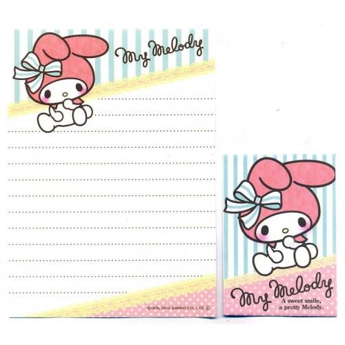 Ano 2012. Kit 2 Conjuntos de Mini-Papel de Carta My Melody Sweet Smile - Sanrio