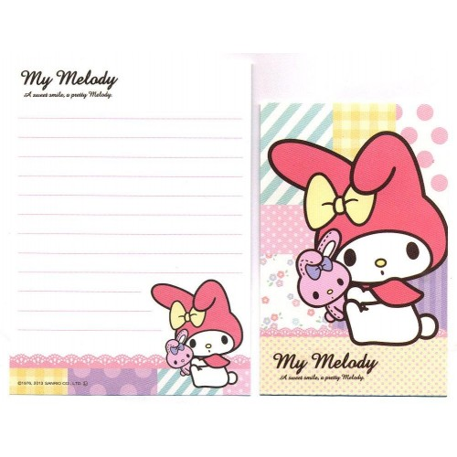Ano 2013. Kit 2 Conjuntos de Mini-Papel de Carta My Melody Pretty - Sanrio