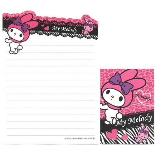 Ano 2013. Kit 2 Conjuntos de Mini-Papel de Carta My Melody Pink - Sanrio