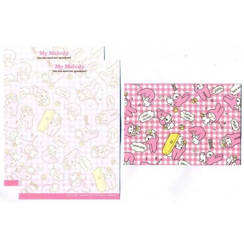 Ano 2013. Conjunto de MINI-Papel de Carta My Melody CRX2 Sanrio
