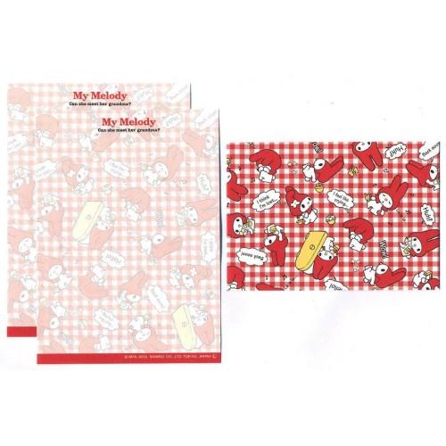 Ano 2013. Conjunto de MINI-Papel de Carta My Melody CVX2 Sanrio