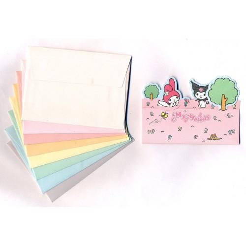 Ano 2005. Kit Mini-Cartão de Mensagem My Melody & Kuromi Sanrio
