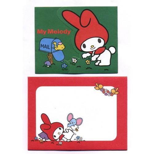 Ano 2008. Kit Mini-Cartão de Mensagem My Melody Sanrio