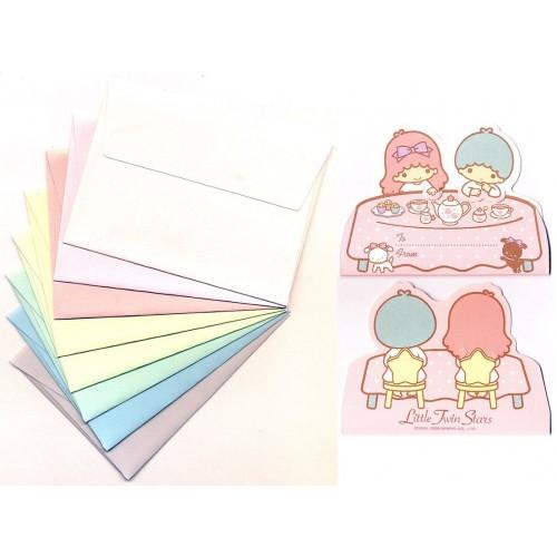 Ano 2009. Kit Mini-Cartão de Mensagem Little Twin Stars Sanrio