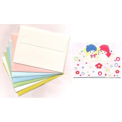 Ano 1997. Kit Mini-Cartão de Mensagem Little Twin Stars Sanrio