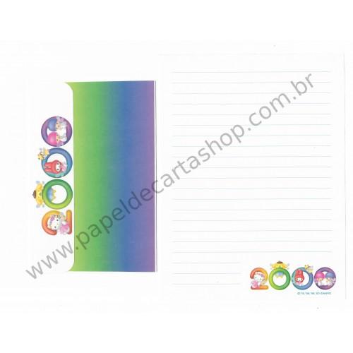Ano 2000. Conjunto de Papel de Carta Hello Kitty 2000 CVD Sanrio
