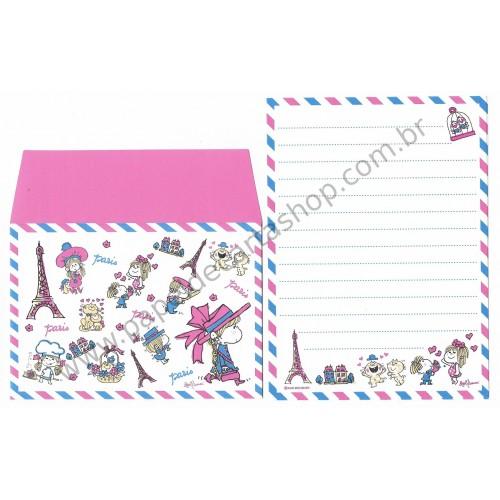 Conjunto de Mini-Papel de Carta com envelope ADO MIZUMORI 0040