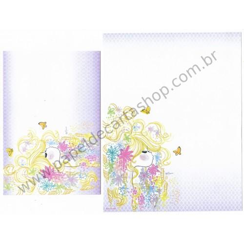 Conjunto de Papel de Carta com envelope ADO MIZUMORI 0042