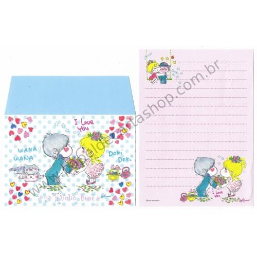 Conjunto de Mini-Papel de Carta com envelope ADO MIZUMORI 0052