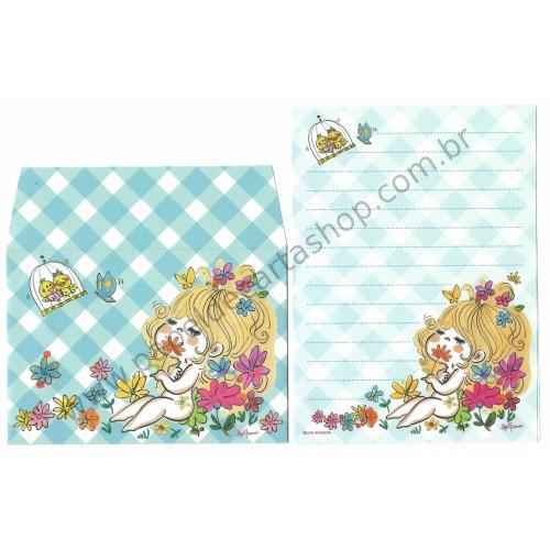 Conjunto de Mini-Papel de Carta com envelope ADO MIZUMORI 0054
