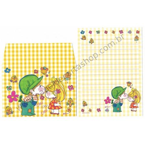 Conjunto de Mini-Papel de Carta com envelope ADO MIZUMORI 0055