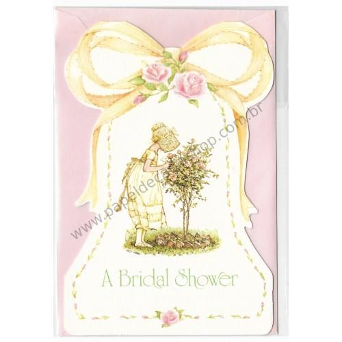 Notecard Antigo Holly Hobbie A Bridal Shower
