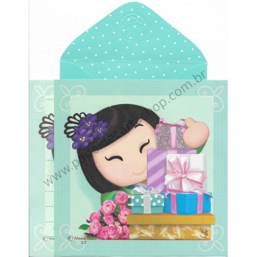 Ano 2017 Ma Tuzi Conjunto de Papel de Carta Coleção Hana Yuki 15