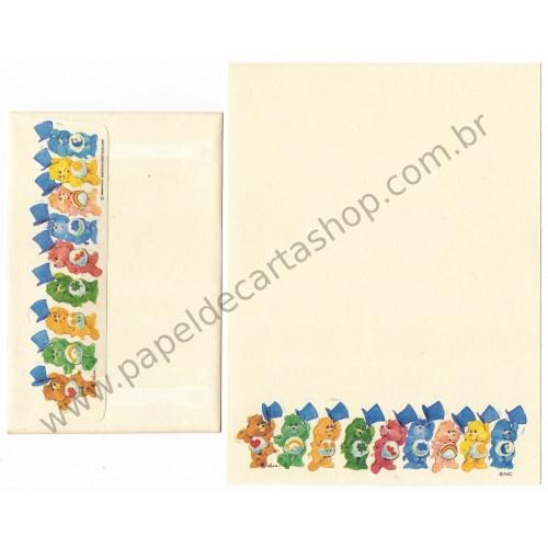 Conjunto de Papel de Carta ANTIGO Importado Ursinhos Carinhosos HATS - AG