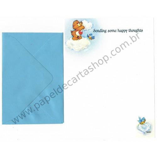 Conjunto de Papel de Carta Antigo Ursinhos Carinhosos Love - American Greetings