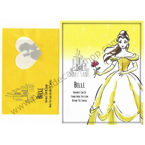 Conjunto de Papel de Carta Belle Disney Daiso