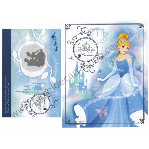 Conjunto de Papel de Carta Cinderella Disney Daiso