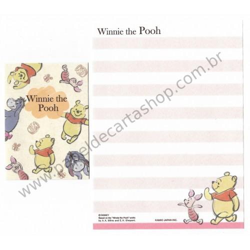 Mini Conjunto de Papel de Carta Disney Pooh Bee2 - Kamio Japan