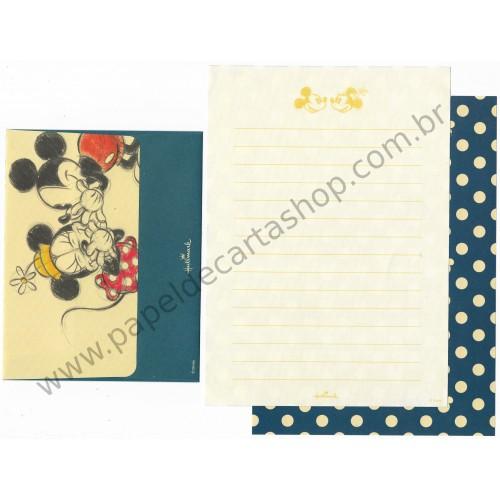 Conjunto de Papel de Carta Disney Mickey Blue Dots - Hallmark