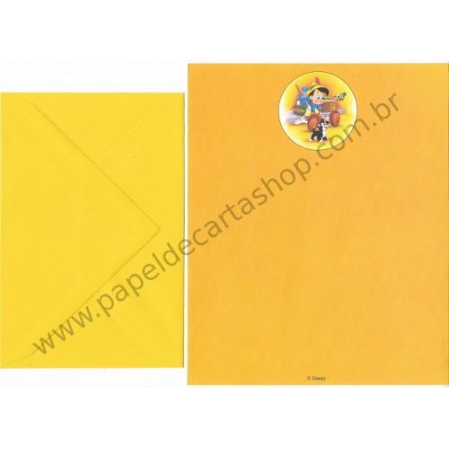 Conjunto de Papel de Carta VINTAGE Disney Pinocchio CAM