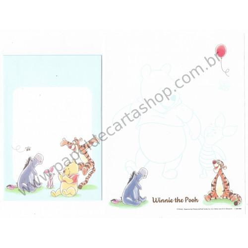 Conjunto de Papel de Carta Importado Disney Winnie The Pooh 1 (CAZ)