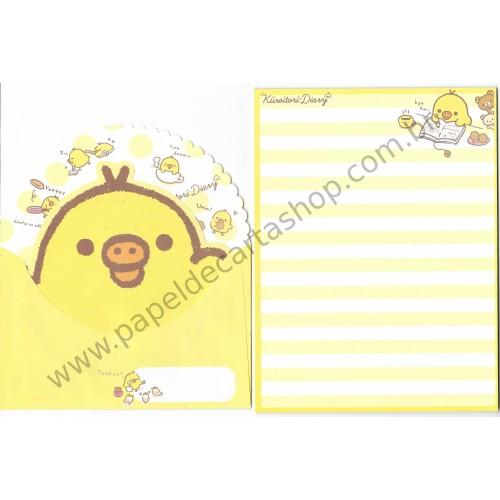 Kit 2 Conjuntos de Papel de Carta Küroitori Diary San-X