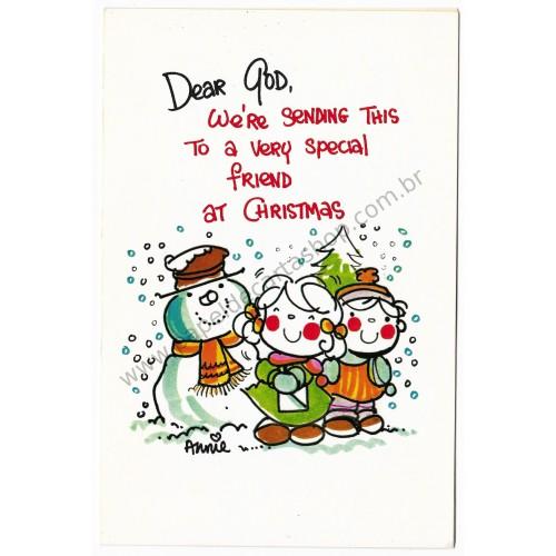 Notecard Importado Dear GOD Christmas Annie
