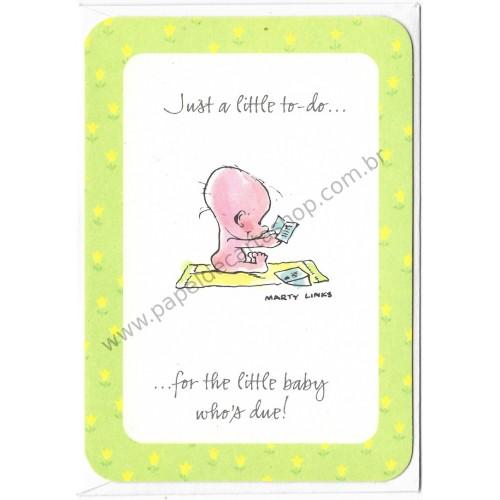Cartão ANTIGO IMPORTADO Little Baby Marty Links