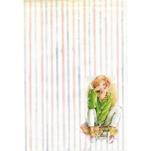 Papel de Carta Antigo Coleção KARINA 03M