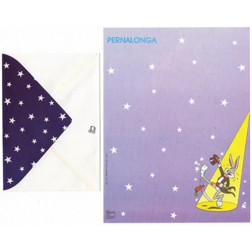 Conjunto de Papel de Carta Coleção Palacio's Line Turma do Pernalonga