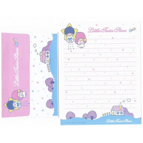 Ano 2003. Conjunto de Papel de Carta Little Twin Stars LBR Sanrio