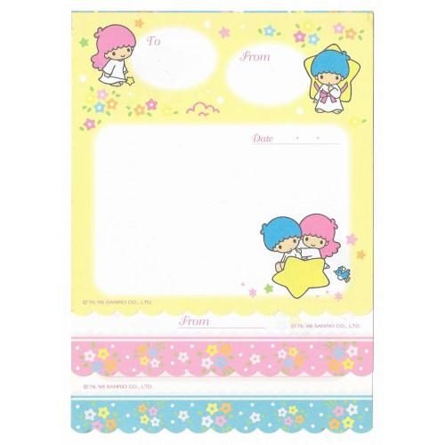 Ano 1998. Kit 3 Papéis de Carta Little Twin Stars Antigo (Vintage) Sanrio