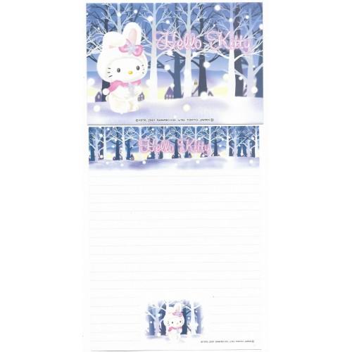 Ano 2001. Conjunto de Papel de Carta Gotōchi Kitty Regional Snow