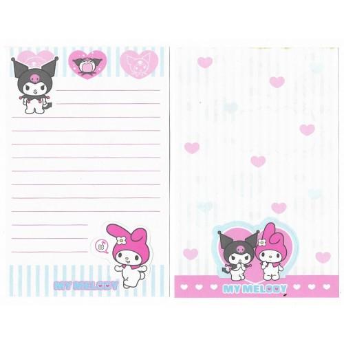 Ano 2005. Kit 2 Notas Kuromi Nanishite Sanrio