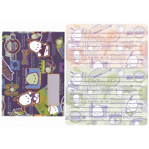 Ano 1997 Conjunto de Papel de Carta Pochacco The Cool Vintage Sanrio