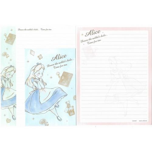 Kit 2 Conjuntos de Papel de Carta Disney Alice Time For Tea