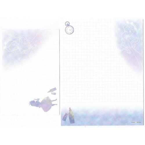 Kit 2 Conjuntos de Papel de Carta Disney Alice Everything Nonsense