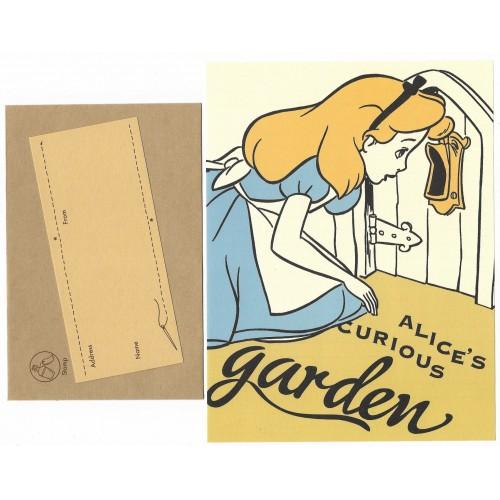 Conjunto de Papel de Carta Disney Alice's Curious Graden