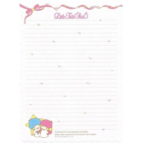 Ano 2002. Papel de Carta A4 Little Twin Stars Sanrio