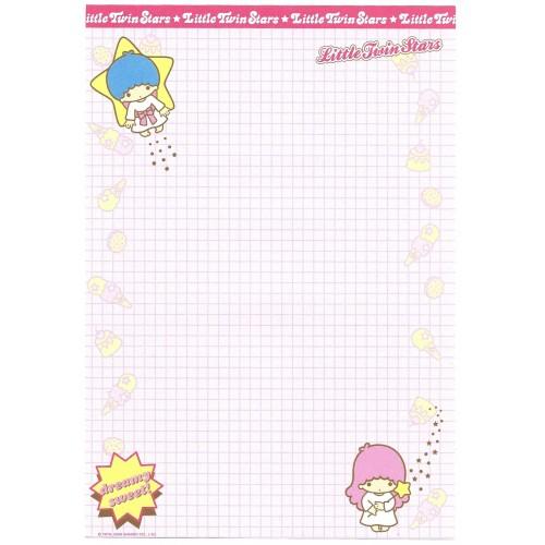 Ano 2003. Kit Papéis de Carta A4 Little Twin Stars Dreamy Sweet Sanrio