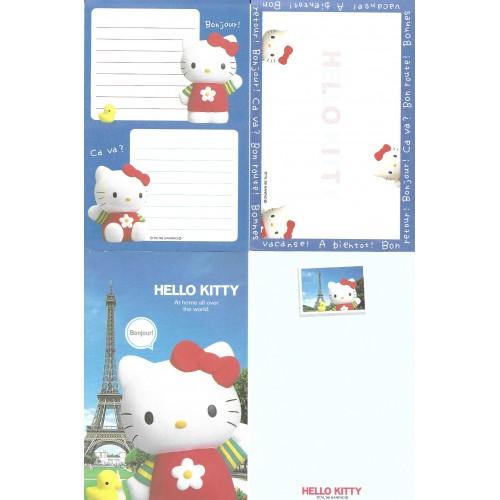 Ano 1998. Kit 4 Notas Hello Kitty Bonjour Vintage Sanrio