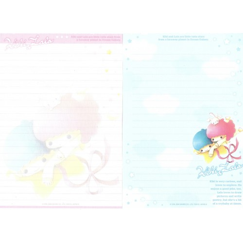 Ano 2004. Lote 20 Papéis de Carta Kiki & Lala Dream Galaxy Sanrio