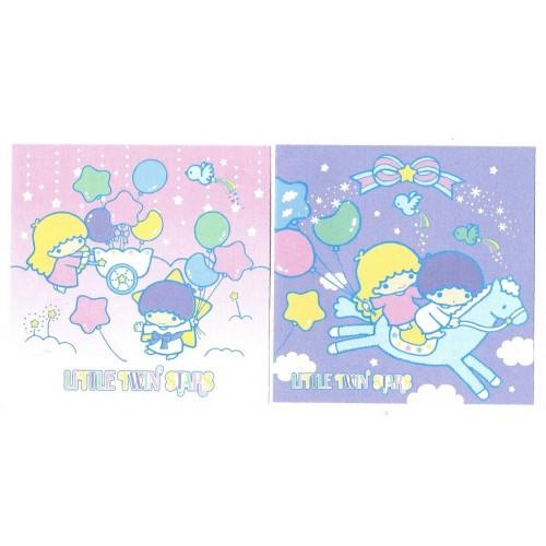 Ano 2003. Kit 2 MEMOS Little Twin Stars Baloons Sanrio