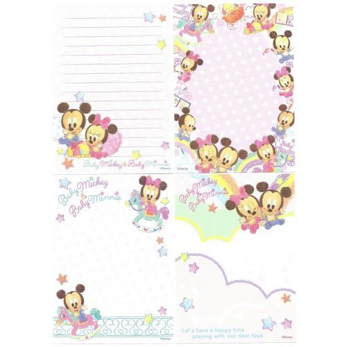 Kit 4 NOTAS Baby Mickey & Baby Minnie Disney Sony