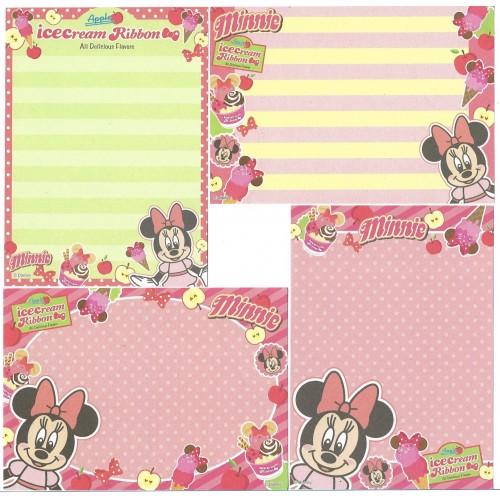 Kit 4 NOTAS Minnie Ice Cream Ribbon Disney Sun-Star