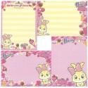 Kit 4 NOTAS Miss Bunny Ice Cream Ribbon Strawberry Disney Sun-Star